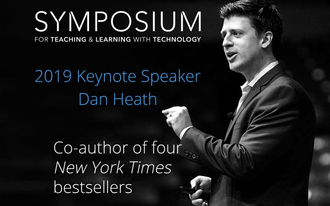 Bestselling author Dan Heath to give keynote at 2019 Symposium for Teaching and Learning with Technology