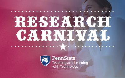 The inaugural Teaching and Learning with Technology Research Carnival will be held on June 19, 2019