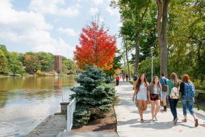 penn state altoona students walk on campus