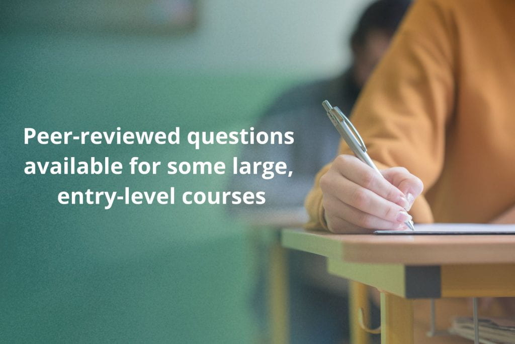 image of a student taking a test